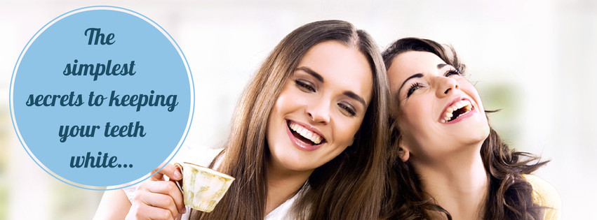 Two woman sharing the secrets to keeping your teeth white